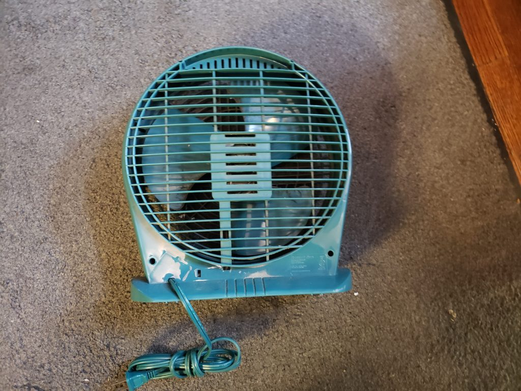 small desk fan with no working switch