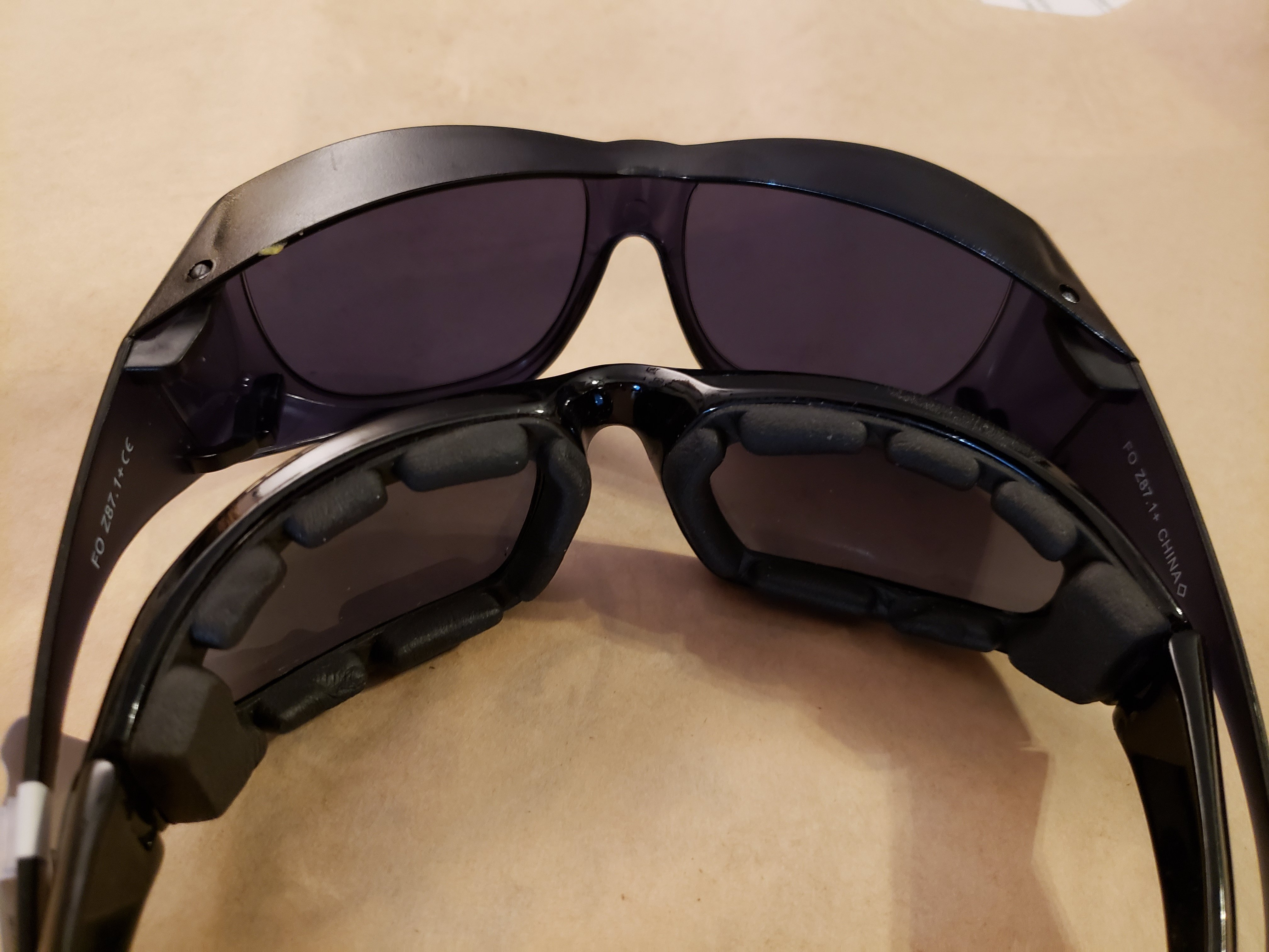 foam motorcycle goggle glasses and cataract surgery sunglasses