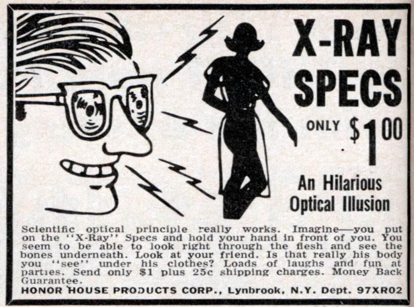 x-ray vision glasses ad