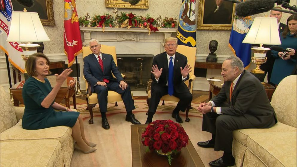 Trump meeting with Schumer, Pelosi erupts over border wall funding