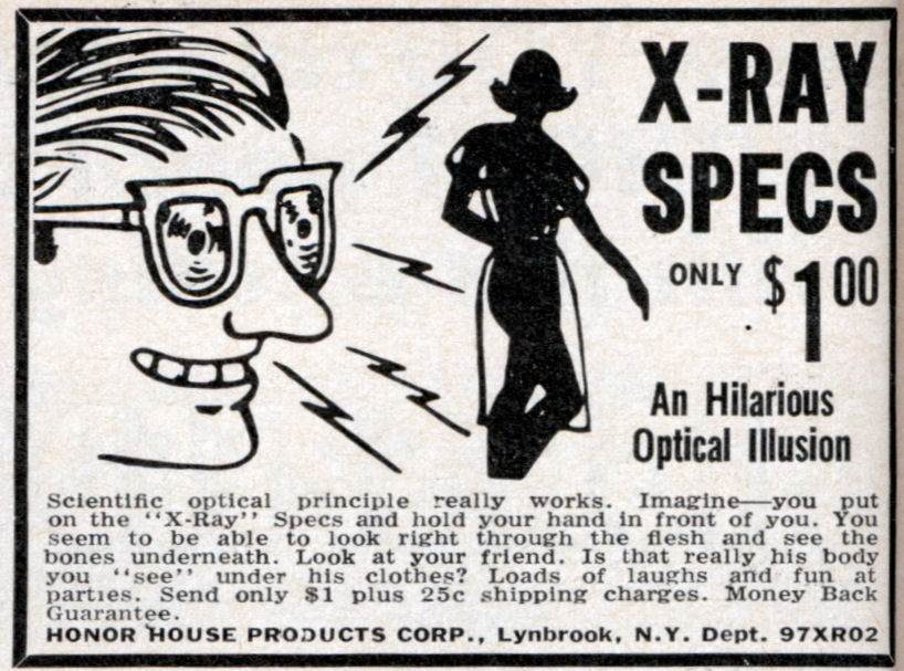 x-ray vision glasses ad