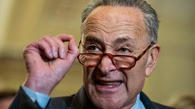 Senator Chuck Schumer with reading glasses